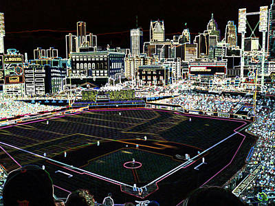 Detroit Tigers Art Digital Art - Comerica Park Detroit by Glen W Ferguson
