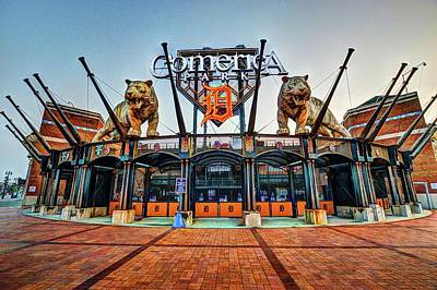 Digital Art - Comerica Park Dsc_0590 by Michael Thomas