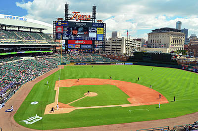 Photograph - Comerica Park, Home Of The Detroit Tigers by James Kirkikis