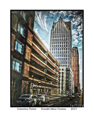 Comerica Tower Art Print by Donald Yenson