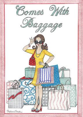 Mixed Media - Comes With Baggage by Stephanie Hessler