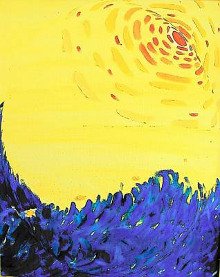 Art Print featuring the painting Comet by Lenore Senior