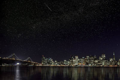Photograph - Comet Over San Francisco by PhotoWorks By Don Hoekwater
