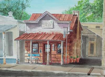 Mike Martin Painting - Comfort Barber Shop by Mike Martin