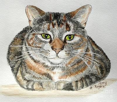 Comfortable Cat Art Print