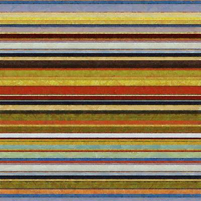 Multicolored Digital Art - Comfortable Stripes Vl by Michelle Calkins