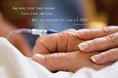 Comforting Hand Of Love Art Print
