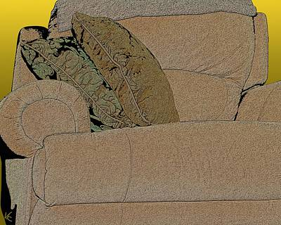 Digital Art - Comfy Chair by Victor Shelley