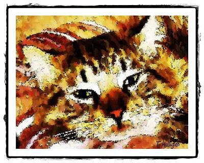Comfy Kitty Art Print