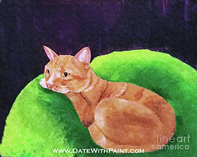 Painting - Comfy Kitty_dwp_may 2017 by Ania M Milo