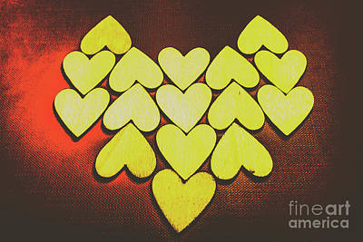 Comic Wall Art - Photograph - Comic Art Hearts by Jorgo Photography - Wall Art Gallery