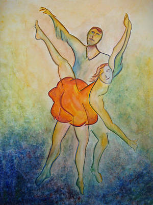 Painting - Comic Ballet by Donna Blackhall