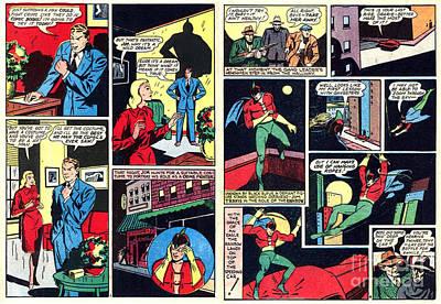Drawing - Comic Book Hero The Rainbow by R Muirhead Art