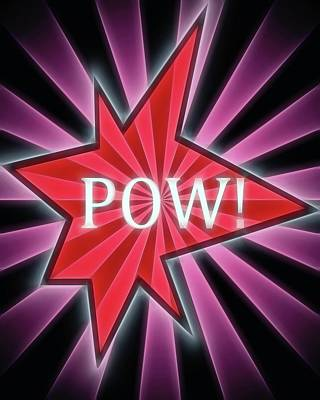 Punch Mixed Media - Comic Book Pow by Dan Sproul