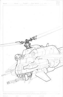 Chopper Drawing - Comic Chopper by Lord Dunce