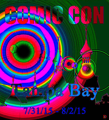 Painting - Comic Con Tampa Bay 2015 Poster A by David Lee Thompson