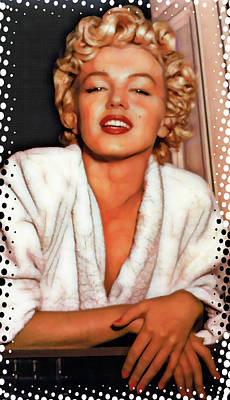 Mixed Media - Comic Marilyn by Daniel Hagerman