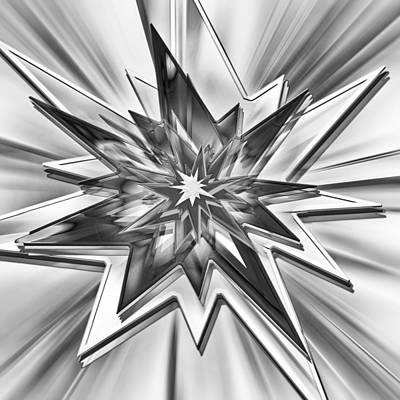 Comic Star - Black And White Art Print by Steve Ohlsen