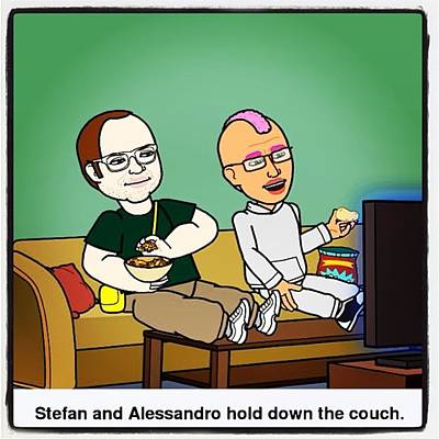 Comics Photograph - Comic With Friends #bitstrip #comic by Alessandro  Lo Monaco