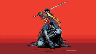 Batman And Robin Digital Art - Comics Batman Batman And Robin                  by F S
