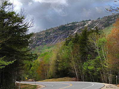 Photograph - Comin Around The Bend In Campton New Hampshire by Nancy Griswold