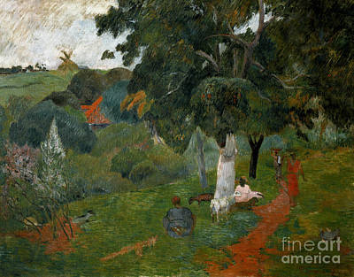 Goat Painting - Coming And Going, Martinique, 1887 by Paul Gauguin