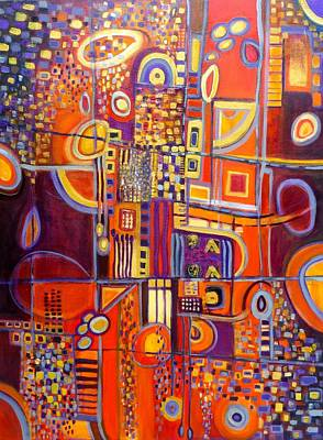 Like Klimt Painting - Coming Back To Me by Genevie Henderson