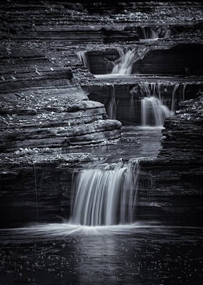 Watkins Glen Photograph - Coming Down Gently by Evelina Kremsdorf