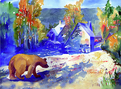 Painting - Coming For Dinner At Rainbow Lodge by Joan Chlarson