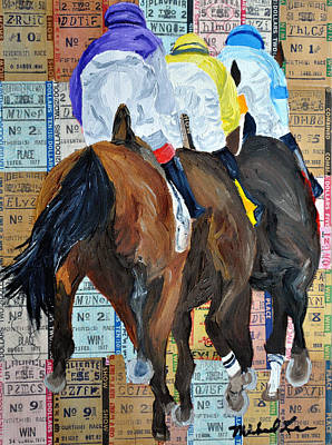 Animals Paintings - Coming From Behind by Michael Lee