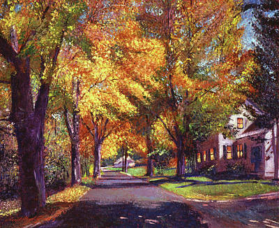 Vermont Landscape Painting - Coming Home by David Lloyd Glover