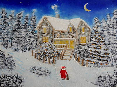 Drawing - Coming Home For Christmas by Bernd Hau