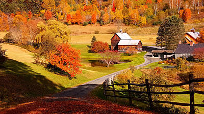 Photograph - Coming Home In A Vermont Autumn by Jeff Folger