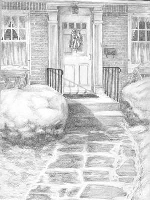 Drawing - Coming Home by Marlene Chapin