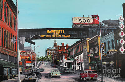 Marquette Wall Art - Painting - Coming Home by Tim Lindquist