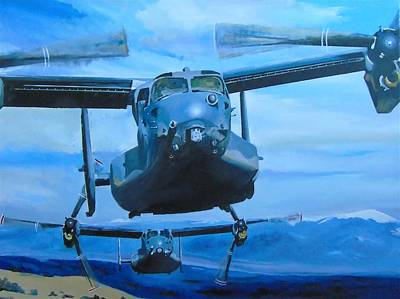 V22 Painting - Coming Home To Roost by Terence R Rogers