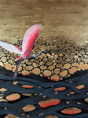 Painting - Coming In For A Landing by Art Nomad Sandra Hansen