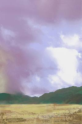 Digital Art - Coming Rain by Victor Shelley