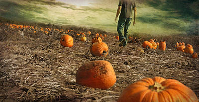 Pumpkins Photograph - Coming Soon by Inesa Kayuta