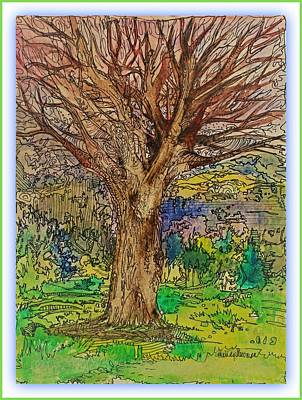 Drawing - Coming Spring by Mindy Newman