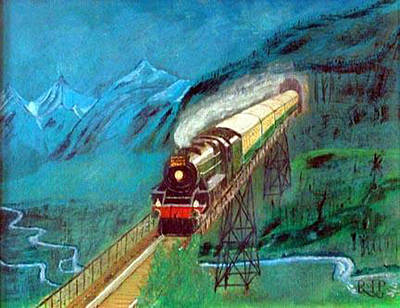 Painting - Coming Through The Tunnel by Richard Le Page