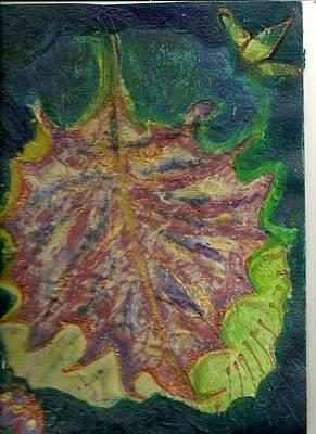 Coming To Me Floating Leaf  Art Print by Anne-Elizabeth Whiteway