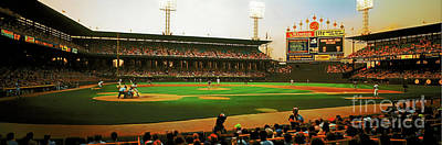 Photograph - Comiskey Park  Twilight   by Tom Jelen