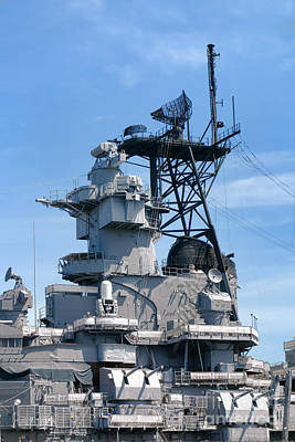 Photograph - Command Tower And Weapons On Us Navy Battleship by Olivier Le Queinec