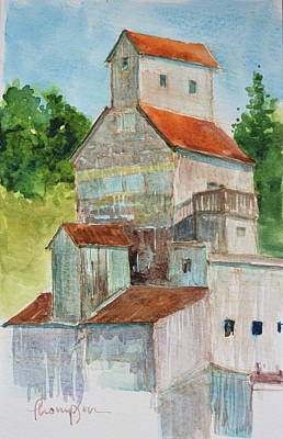 Historic Building Painting - Commander Elevator by Tracie Thompson