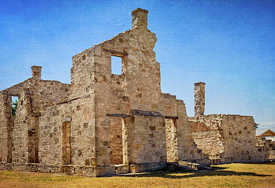 Photograph - Commanding Officer's Quarters - Fort Mckavett by Debra Martz