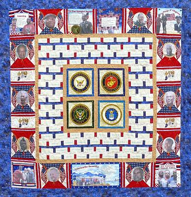 Tapestry - Textile - Commemorating Lou Walker Heros by Tracie L Hawkins