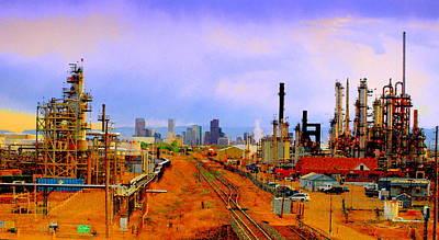 Photograph - Commerce City Greets Denver II - A Colorado Paintograph by Christine S Zipps
