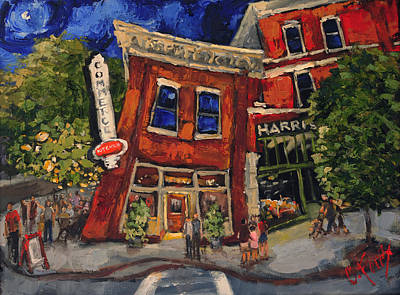 Downtown Huntsville Painting - Commerce Kitchen Huntsville Alabama by Carole Foret