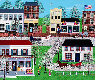 Toy Shop Painting - Commerce Street by Susan Henke